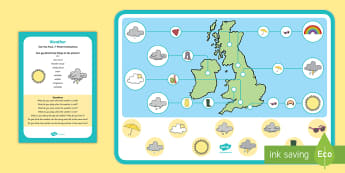 Weather Can You Find...? Poster and Prompt Card Pack - weather, Meteorology, sunny, cloudy, rainy, raining, weather forecast
