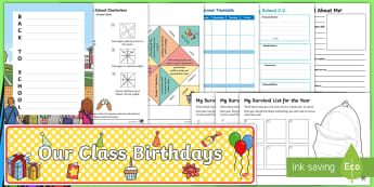 Back to School 5-6 Resource Pack - New Year, School Year, Display, Calendar, Behaviour, Reward, Reward Chart, Activities,Australia