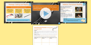 Manufacturing Processes - Joining and Forming Metals: Complete Guide PowerPoint Pack - metals, wasting, forming, shaping, CAD, CAM, tools, processes