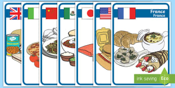 Foods Around the World Display Posters English/French  - different countries foods,foods, around, world, display posters, display, EAL French,French-translat