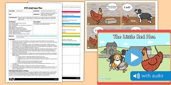 Little Red Hen Movement Activity EYFS Adult Input Plan and Resource Pack - little red hen, movement