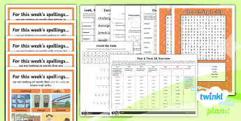 PlanIt Year 6 Term 3A Bumper Spelling Pack - Spellings Year 6, bumper, all