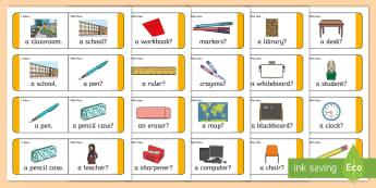 School Loop Cards - games, classroom, classroom objects, equipment