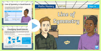 Year 4 Line of Symmetry Maths Mastery PowerPoint - reasoning, Greater Depth, Abstract, Problem Solving, Explanation, challenge, discuss, extension
