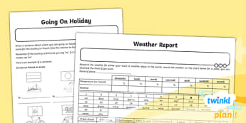 French: Holidays and Hobbies Year 4 Home Learning Tasks