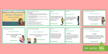 Choose Kindness Scenario Question Cards - US resources, kindness, random acts of kindness