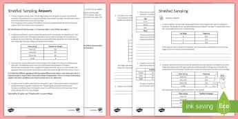 Stratified Sampling Activity Sheet - statistics, sampling, stratified sampling, population, worksheet, skateboard, dog, cars.