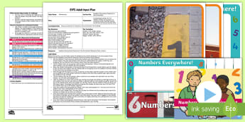 EYFS Numbers Everywhere! Numerals in the Environment Adult Input Plan and Resource Pack - Early Years Planning, EYFS, Adult Led, Mathematics, number, numerals, environment