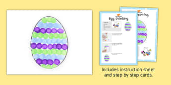 Egg Printing Craft Instructions - craft, printing, instructions