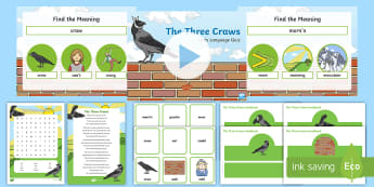 The Three Craws Activity Pack - Scots language, Scottish, Scots, Song, Poem, St. Andrew's, ,Scottish