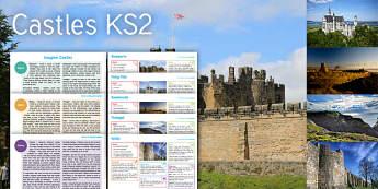 Imagine Castles KS2 Resource Pack - Castle, Rampart, Wall, Tintagel, Fairy Tale, Sand Castle