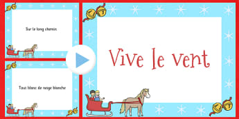 Jingle Bells Christmas Carol Lyrics PowerPoint French - french, jingle bells, christmas carol, lyrics, powerpoint