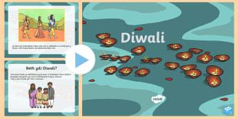 Pŵerbwynt Gwybodaeth Diwali  - Diwali, Dathliadau blynyddol, Diwali maths, rhifedd, pencil, adnoddau arddangos, display resources,