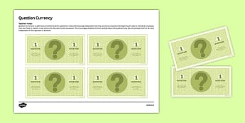 Question Currency Independent Learning Resource