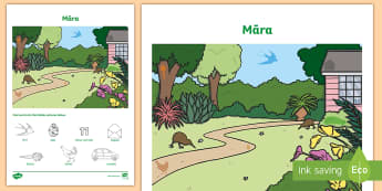Garden Word and Picture Matching Activity Sheet - Garden, Word and Picture Find, Activity Sheet, Maori Language Week, Word Find