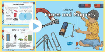 Forces and Magnets Activities PowerPoint - ACSSU076, push, pull, friction, gravity, magnetic,Australia, quiz,