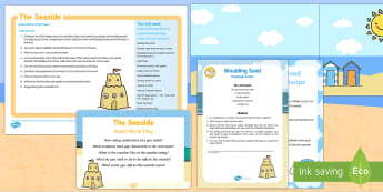The Seaside Small World Play Idea and Printable Resource Pack - The Seaside, summer, beach, sea, role-play, imaginative play, small world, smallworld