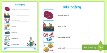 Cycling Safety Worksheet - cycling, safety, worksheet, sheet