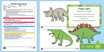 EYFS Dinosaurs in a Tangle Finger Gym Plan and Resource Pack  - Dinosaurs, threading, lacing, funky fingers, dinosaurs love underpants, claire freedman