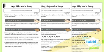 PlanIt Maths Y2 Number and Place Value Comparing Numbers Differentiated Home Learning Tasks - compare, order, greater than, less than, mastery, year 2, year two, ks1, maths, planning, homework