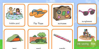 Summer Pairs Matching Game - summer, game, matching, memory, word work,literacy center, key words, vocabulary, weather, seasons
