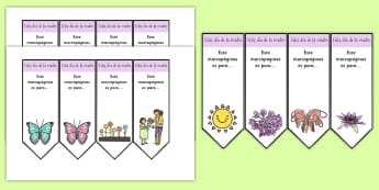 Mother's Day Editable Bookmarks - Spanish, KS2, vocabulary, mother's, day, bookmark, editable, gift, craft