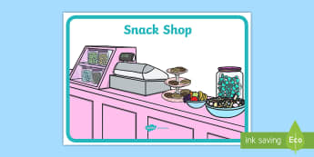 Snack Shop Display Poster  - Snack Shop Display Poster - snack, shop, display postr, grocery store, abnner, snak