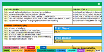 Report Writing Bank of Statements All Subjects Year 1 to 6 - differentiated, report, statements,