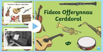 Pŵerbwynt Fideo Offeryn Cerddorol - offerynnau, instruments, cerdd, music, fideo,,Welsh