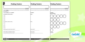 PlanIt Maths Y4 Multiplication and Division Finding Factors Home Learning