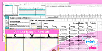 Art: Portraits KS1 Unit Assessment Pack