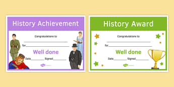 History Awards Resource Pack