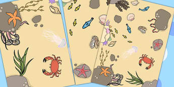 Sea Floor Mat - sea, seaside, under the sea, visual aid, roleplay