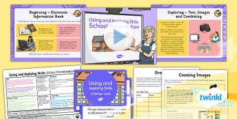 Computing: Using and Applying Skills Year 3 Lesson Pack