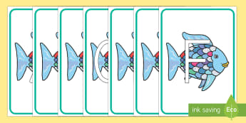 El pez arcoiris Abecedario de exposición