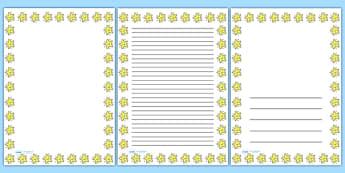 Smiley Star Portrait Page Borders- Portrait Page Borders - Page border, border, writing template, writing aid, writing frame, a4 border, template, templates, landscape