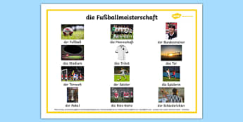Football German Word Mat