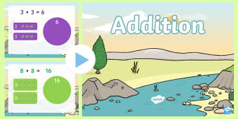 Dinosaur Themed Addition to 20 PowerPoint - New Zealand, Maths, dinosaurs, addition, adding, maths powerpoint