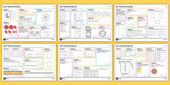 Year 4 Number 1 Maths Activity Mats - Year 4, maths, mathematics, numeracy, activity mats, fast finisher, problem solving, addition, subtr