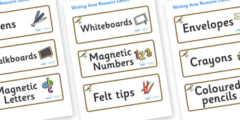 Sparrow Themed Editable Writing Area Resource Labels - Themed writing resource labels, literacy area labels, writing area resources, Label template, Resource Label, Name Labels, Editable Labels, Drawer Labels, KS1 Labels, Foundation Labels, Foundatio