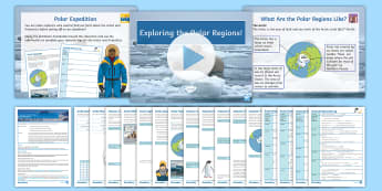 Polar Regions Lesson 1: Exploring Polar Regions - Polar, Arctic, Antarctic,  South Pole, North pole, map skills