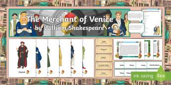 The Merchant of Venice Display Pack  - The Merchant of Venice, Shakespeare, vocabulary, display, Bassanio, Portia, Shylock, shakespeare, di