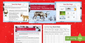 Hunt the Magic Christmas PowerPoint Game - game, probability, chance, dice, money, accounting, risk