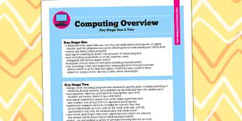 2014 Curriculum Computing Overview - new curriculum, ICT, IT