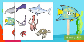 The Little Fish 1-10 Stick Puppets - The Little Fish Stick Puppets - tiddler, early years, eyfs, nursery, reception, fish, under the sea,