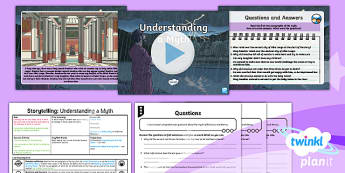 PlanIt Y4 Myths and Legends: Romulus and Remus Lesson Pack Storytelling 1  - Myths and Legends: Romulus and Remus, Romans, traditional, story, ancient, comprehension, answer, fe