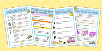 Safety in the Sun Posters - safety, sun, posters, display, safe