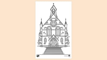 Printable Colouring Page For Children S Church