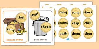 Buried Treasure Game (Phase 3) - Buried Treasure, Phase 3, activity, Phase three, blending for reading, nonsense words, DfES Letters and Sounds, Letters and sounds, Letter flashcards, year 2