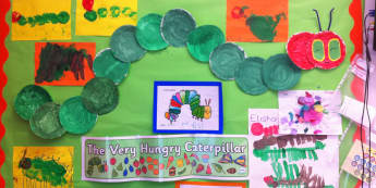 Minibeasts, The very Hungry Caterpillar, Caterpillar, Bugs, Paint, Display, Classroom display, Early Years (EYFS), KS1 & KS2 Primary Teaching Resources
